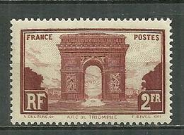 FRANCE MNH ** 258 Arc De Triomphe De L'Etoile - Unused Stamps