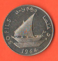 Arabia South 50 NFils 1964 Saudi Arabia Arabia Saudita Nickel Coin  الجنوب العربي - Saudi Arabia