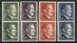 799-802 A/B Hitler Alle Markwerte WEIT Und ENG Gezähnt - ** Postfrisch / MNH - Ohne Zuordnung