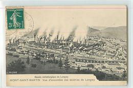11313 - MONT SAINT MARTIN - BASSIN METALURGIQUE DE LONGWY / VUE D ENSEMBLE DES ACIERIES DE LONGWY - Mont Saint Martin