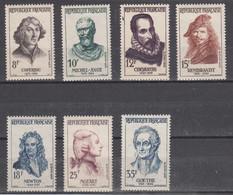 France Célébrités étrangères (1957) Y/T Série 1132/1138  Neufs ** à 10% De La Cote - Neufs