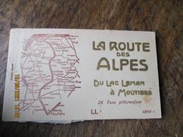 Carnet La Route Des Alpes Du Lac Leman A Moutiers 24 Cartes - Altri Comuni