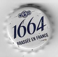 B 366 - CAPSULE DE BIERE - 1664 - BRASSÉE EN FRANCE (KRONENBOURG)  GRISE - Birra