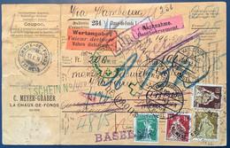 """""""ARSILA DEUTSCHE POST MAROKKO 1914"""" STPL RRR ! Auf Paketkarte Schweiz 1908 Ausgabe(Brief Cover Lettre Maroc Morocco - Ufficio: Marocco"""