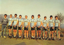 CARTE CYCLISME GROUPE TEAM BIANCHI SUISSE1984 - Ciclismo
