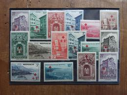 MONACO 1940 - Pro Croce Rossa - Nn. 200/214 Nuovi ** + Spese Postali - Neufs