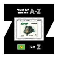 NIGER 2021 - WWF Zaire: Chimpanzee. Official Issue [NIG210244b4] - Chimpanzees