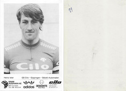 CARTE CYCLISME HEINZ ISLER TEAM CILO - GIPPIGEN 1984 ( VOIR PARTIE ARRIERE ) - Ciclismo