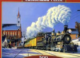 """PUZZLE """"Train De Noêl"""" 500 Pièces Editions Castorland 47cm Sur 33cm NEUF Avec CELLO* !! - Non Classificati"""