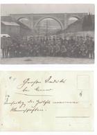 Muno  Florenville   CARTE PHOTO  Soldats Allemands Durant La Première Guerre Mondiale Devant Le Pont  De Chemin De Fer - Florenville