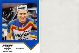CARTE  CYCLISME DAVE MILLER TEAM RALEIGH 1984 ( VOIR PARTIE ARRIERE ) - Ciclismo