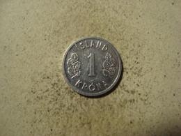 MONNAIE ISLANDE 1 KRONA 1978 - Islandia
