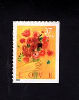 13339993372 2005 SCOTT 3898 (XX) POSTFRIS MINT  NEVER HINGED EINWANDFREI  LOVE FLOWERS RIGHT & UNDER IMPERFORATED - Neufs