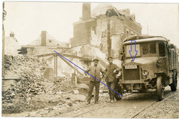 Allemande Carte Photo- 02 (Aisne) St Quentin  - Camion   Soldaten Büssing LKW Interressant !   WWI 1.WK (2-2) - Unclassified