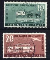 Französische Zone, Rheinland Pfalz Michel Nr. 49-50 Gestempelt, Geprüft Wehner BPP - Franse Zone