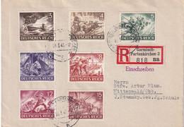 ALLEMAGNE 1943 LETTRE RECOMMANDEE DE GARMISCH PARTENKIRCHEN AVEC CACHET ARRIVEE MITTENWALD - Storia Postale