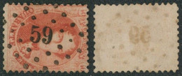 """Médaillon Dentelé - N°16 Obl Pt 59 (Lp 59) """"Bruly (Le)"""". COBA : R Luxe !  / Collection Spécialisée. - 1863-1864 Medaillons (13/16)"""