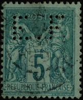 -Sage N°75. Type II  Ob  ( CAD ) PERFORE  E.F - 1876-1898 Sage (Tipo II)