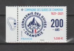 FRANCE / 2021 / Y&T N° 5490 ** : Bicentenaire Compagnie Des Guides De Chamonix X 1 BdF G - Neufs