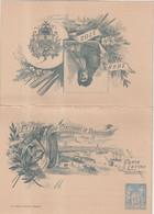 """FRANCE : ENTIER POSTAL . 15 Cts . TYPE SAGE . CL TSC . """" FETES DE DUNKERQUE """" .  TIMBRE EN BAS . 1893 . TB . - Cartoline-lettere"""