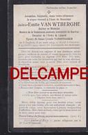 """Izegem - Bidprentje """"Van Wtberghe Jules"""" 1835-1915 - Dokter - Izegem"""