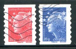 FRANCE - Timbres Autoadhésifs - Y&T 599 Et 600 (20% De La Cote) - Adhesive Stamps