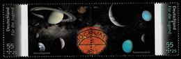 Bund 2011,Michel# 2884 - 2885 O Zdr. Für Die Jugend: Astronomie - Gebruikt