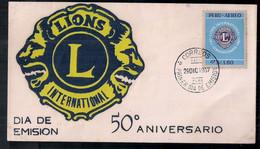 Pérou 1967 FDC 50 Ans De Lions International - Rotary, Lions Club