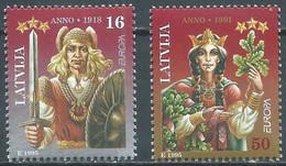 EUROPA Lettonie Yv 372/3 MNH Neufs** - - 1995