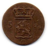 NETHERLAND COLONIES - INDONESIA - SUMATRA, 5 1/16 G. (1 Duit), Copper, Year 1816-S, KM #281 - Indes Néerlandaises