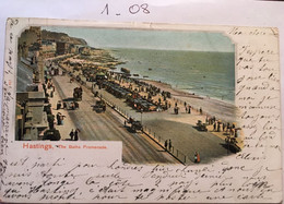 Cpa écrite En 1901, HASTINGS .THE BATHS PROMENADE,éd Peacock Brand, Timbre - Hastings