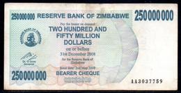 641-Zimbabwe 250 000 000$ 2008 AA303 - Zimbabwe