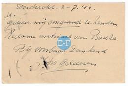 1941 Drogisterij Joh. Van Gelderen Dordrecht, Kon. Ned. Zoutindustrie, Badzo - Storia Postale