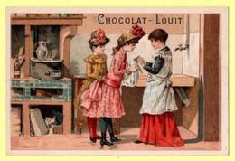 Chromo Louit à Bordeaux. Scènes De Vie Et Jeux D'enfants. On Lave Les Cheveux De La Poupée... - Autres
