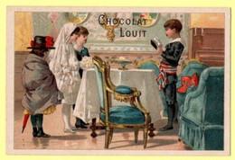 Chromo Louit à Bordeaux. Scènes De Vie Et Jeux D'enfants. Devant Monsieur Le Maire... - Autres