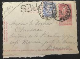Belgique 1902 Carte-Lettre Exprès (1035) - 1893-1900 Thin Beard