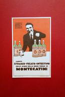 Cartolina Originale Acque Regie Terme Di Montecatini Tamerici Viaggiata Maga - Pubblicitari