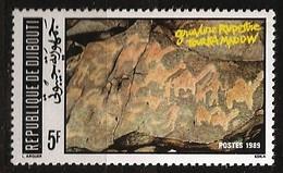 Djibouti 1989 N° 658 ** Gravures Rupestres, Tourka Madow, Archéologie, Dromadaires, Préhistoire, Animaux - Djibouti (1977-...)