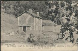 LOZERE : Ste Cecile D'Andorge-Florac, Nouvelle Ligne De Chemin De Fer, Gare De St Frézal - Florac