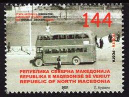 Macedonia - 2021 - Vintage Buses - Double-Decker - Mint Stamp - Mazedonien