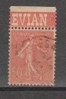 Semeuse Lignée 50c Type 1  N°199 - Pubblicitari