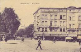 REF4857/ CP-PK Bruxelles - Place Madou Brasserie St.Michel TRAM Animée MINT - Squares