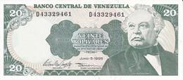 BILLETE DE VENEZUELA DE 20 BOLIVARES DEL AÑO 1995 SIN CIRCULAR  (BANKNOTE) UNCIRCULATED (BANKNOTE) - Venezuela