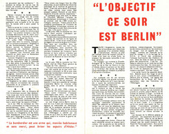 39/45 . TRACT . L'OBJECTIF CE SOIR ET BERLIN - Documentos Históricos