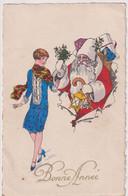 CPA Illustrée Bonne Année - Père Noël - Circulée - New Year