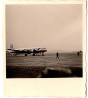 Petite Photo Originale Avion De Ligne à Identifier De La Compagnie Scandinavian Sur Son Tarmac Vers 1950/60 - Luftfahrt
