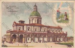 CARTOLINA  CARAVAGGIO,BERGAMO,LOMBARDIA,RICORDO DEL SANTUARIO,RELIGIONE,STORIA,CULTURA,IMPERO,VIAGGIATA 1936 - Bergamo