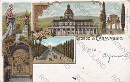 CARTOLINA  CARAVAGGIO,BERGAMO,LOMBARDIA,RICORDO DEL SANTUARIO,RELIGIONE,STORIA,CULTURA,IMPERO,VIAGGIATA 1904 - Bergamo