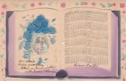 1908 NOUVEL AN, NEW YEAR, NUOVO ANNO. FLEUR ET FILLES. GAUFFREE, RARE CARTE POSTALE, CIRCULEE.- LILHU - Anno Nuovo