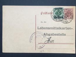 WURTTEMBERG 1920 Pre-paid Postcard 51/2pf Uprated 5pf Geislingen To Hier - `Bezirkskrankenhaus-Verwaltung` - Wurtemberg